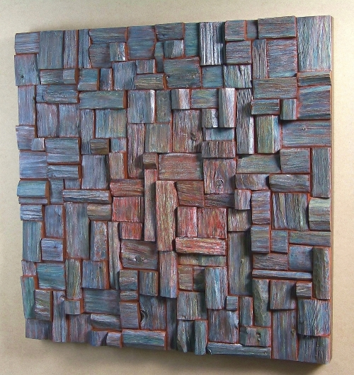 Art of acoustic panel, office art, wooden art, cottage decorating, wood wall art