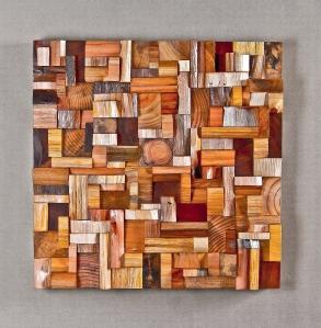 wooden art, recycled wood art, eco art, wooden blocks panel, wood acoustic panel