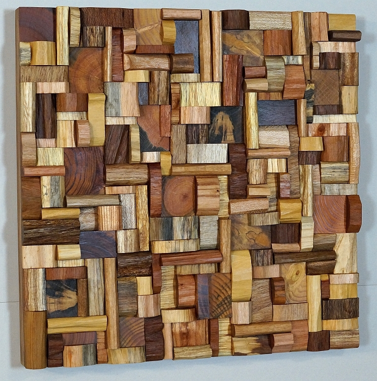 "Wooden art, eco art, wooden blocks panel, wood art. "" - ABOUT Eccentricity Of Wood"