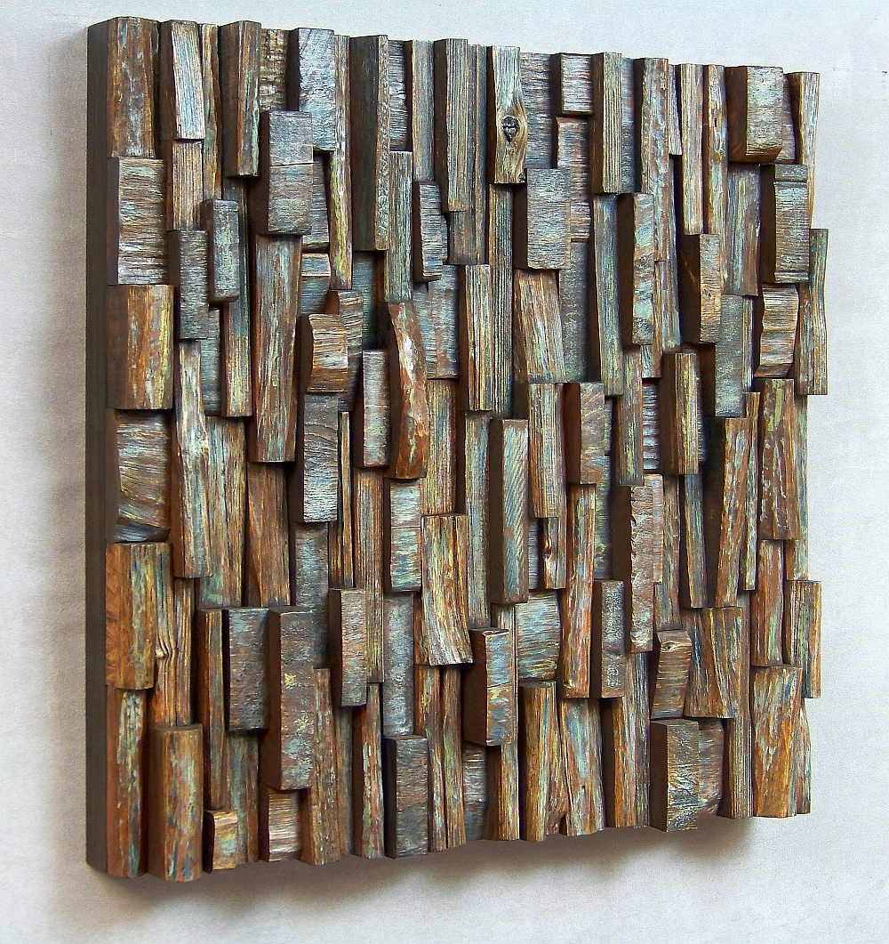 Art of acoustic panel sound treatment wood art sound diffuser acoustic panels entertainment room - Wooden panel art ...