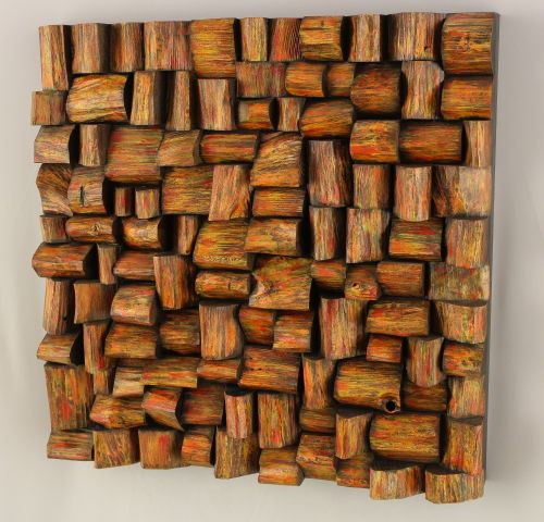 wooden art, recycled wood art, wooden blocks panel, wood wall art