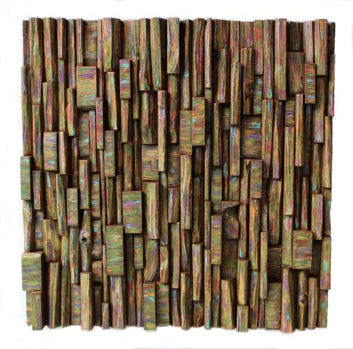 interior design, home decor, eco art, wood sculpture, unique wood art, green living, nature inspired art, recycled wood art, wood blocks assemblage, painting on wood