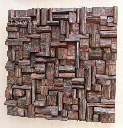 wooden art, wooden blocks panel, wood wall art, art acoustic panel