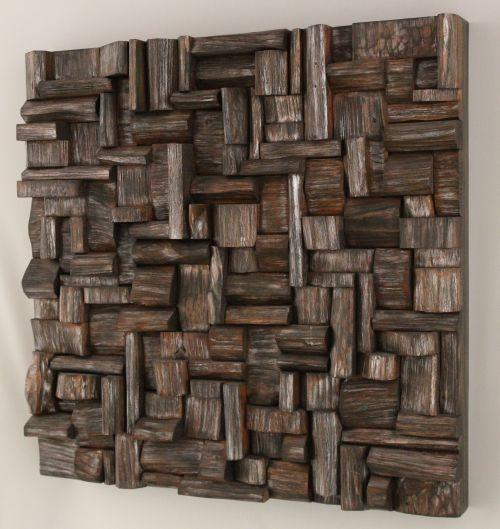 wood art, wooden blocks panel, office art, recycled art, corporate art, wall art ideas,