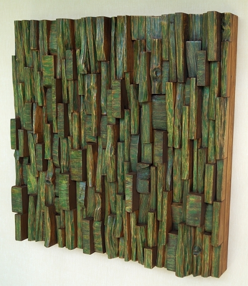 Wooden art, recycled wood art, wooden blocks panel, loft art, cottage art, eco art, contemporary wall art, acoustic panel, acoustic treatment,