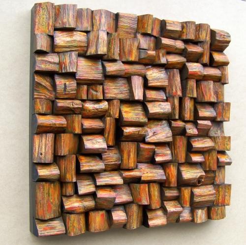 acoustic panel, sound diffuser, acoustic treatment, wooden art