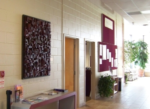 Newmarket Theatre, eco art, environmental art, recycled wood art, wooden art, art