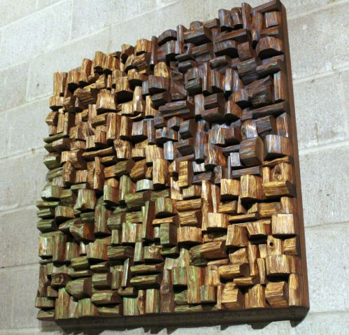 wood art sound diffuser, wood art acoustic panel, acoustic treatment, corporate art, office art acoustic, home theatre acoustic,