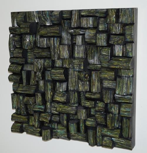 wood art, acoustic panel, wooden blocks panel, sound treatment, wooden panel, audio diffuser