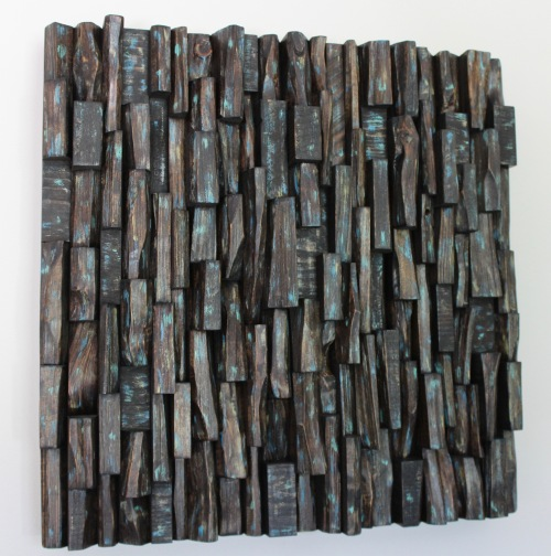 wood art, acoustic panel, sound diffuser, recycled wood art