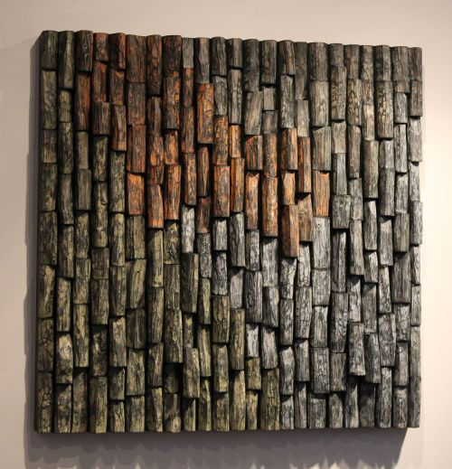 wood sound diffuser, acoustic panel, acoustic treatment, wood art