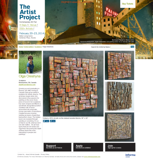 TAP,  Artist project,  Art Toronto