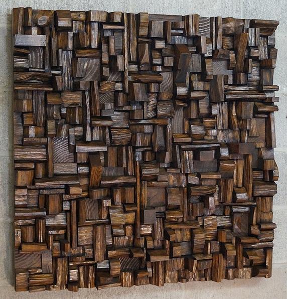 corporate art, wood acoustic panel, wood sound diffuser, wood art, art acoustic treatment