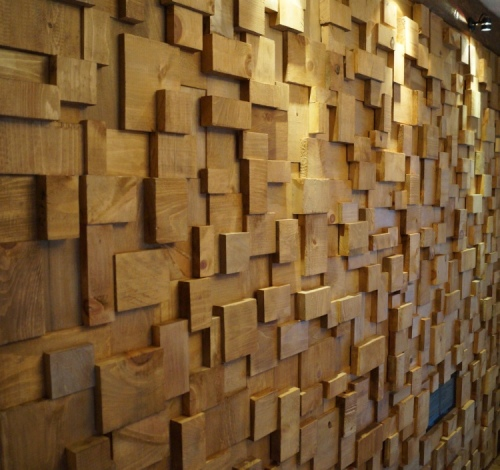 acoustic treatment, acoustic wooden blocks wall, recording studio design