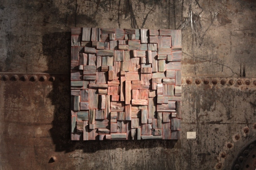 corporate art, wood wall art, wood wall sculpture, wood acoustic panel