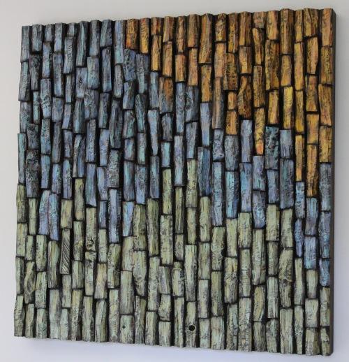wood art, wood wall art, wood wall sculpture, abstract wood sculpture, corporate art, wood blocks assemblage, wood wall art ideas, interior design, home decor,