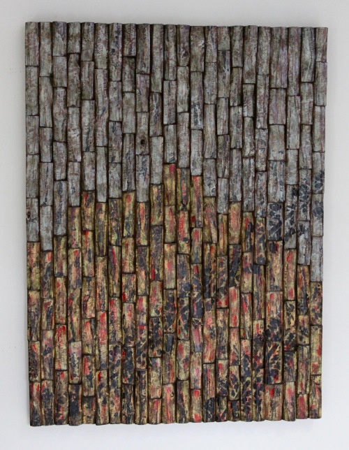 wood art, interior design, wall art ideas, acoustic panel, home decor, corporate art, artexpo NY, wood blocks assemblage, contemporary wood art, wood wall sculpture