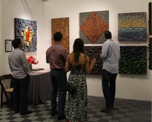 Art San Diego, contemporary art, wood wall art, Olga Oreshyna art, interior design, art in California, art show, nature inspired art, artexpo,