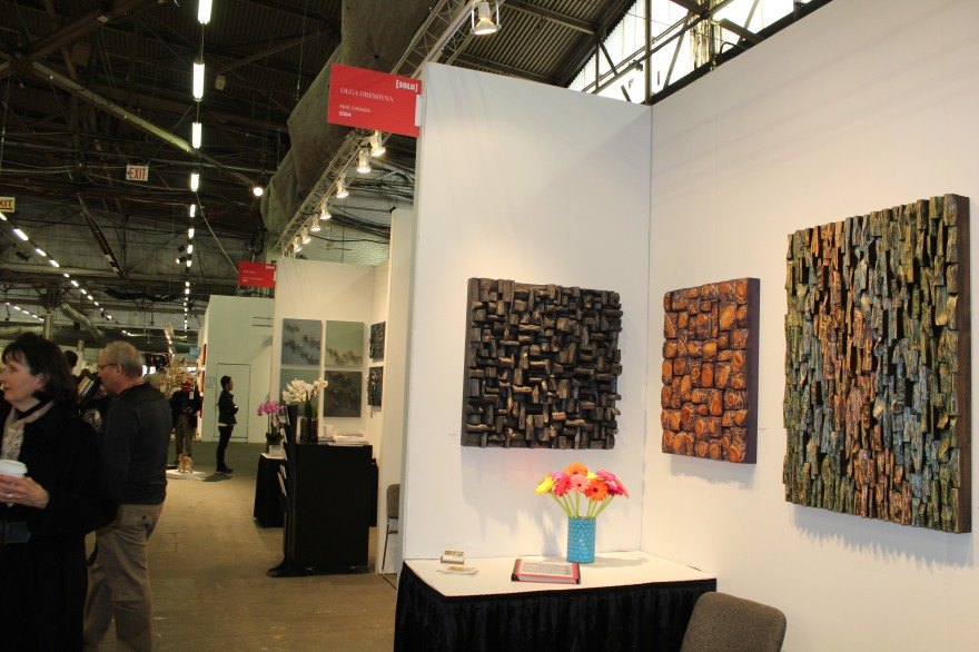 artexpo NY, art NY, contemporary art show, olga oreshyna art, wood wall art, wood blocks panel, corporate art, interior design, home decor, nature art, wood interior design, wood art,