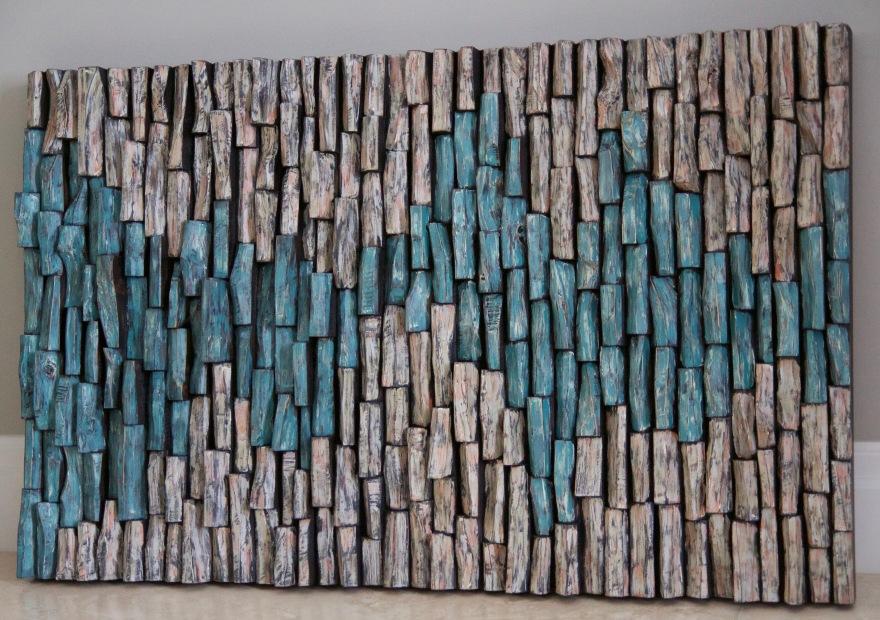 contemporary wall art, wood art, wood wall sculpture, wood blocks panel, wood blocks design, 3d wall art, wall art decor, corporate art, cottage life, decorative wood art, interior design ideas, wall art ideas, contemporary wood art